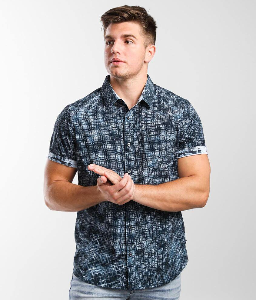 7Diamonds Open Grid Stretch Shirt front view