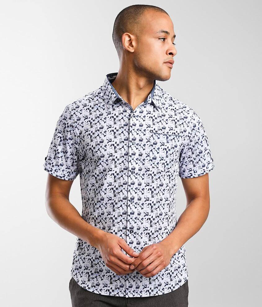 7Diamonds Mosaic Stretch Shirt front view