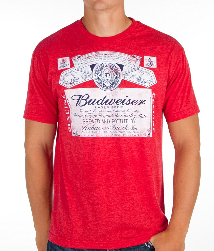 Vintage Budweiser T-Shirt - Men's T-Shirts in Red Heather | Buckle