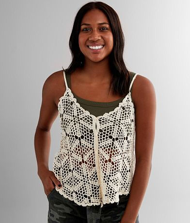 Main Street Crochet Tank Top
