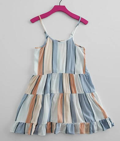 Girls - Vintage Havana Tiered Ruffle Dress