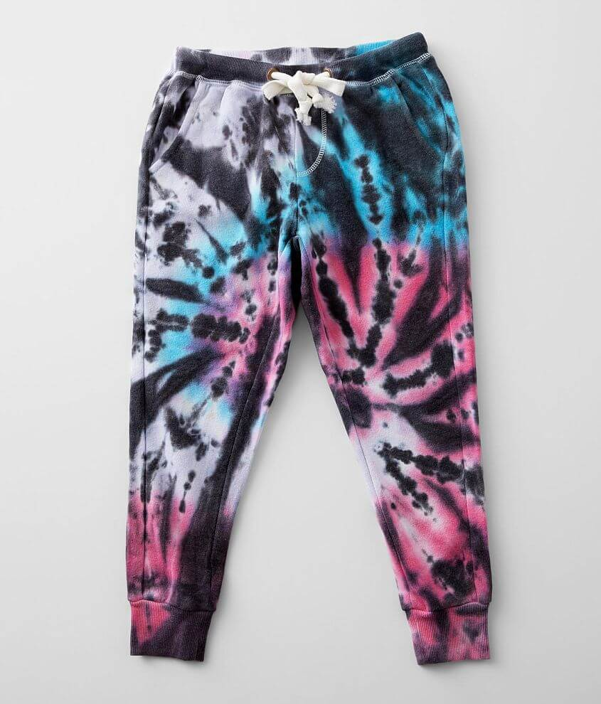 Little Girls - Play Six Tie Dye Jogger Sweatpant front view
