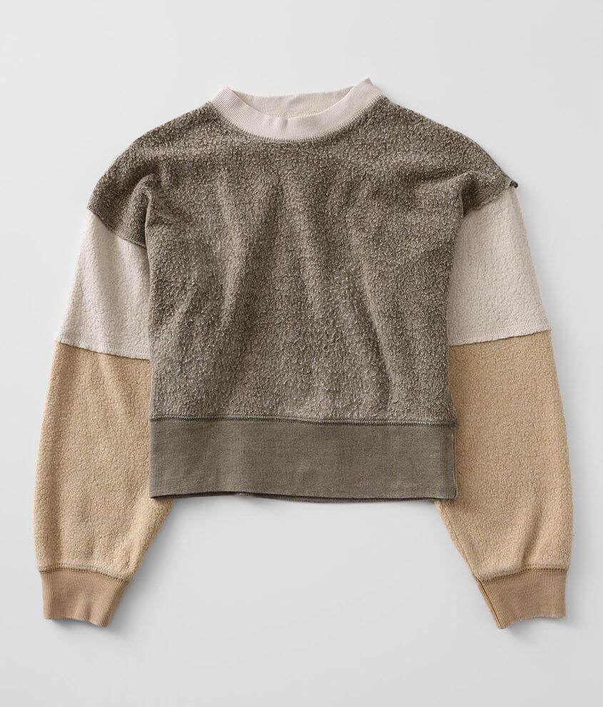 Girls - Vintage Havana Reverse Fleece Pullover front view