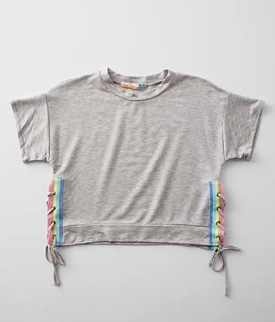 Girls - Vintage Havana Side Seam Lace-Up T-Shirt