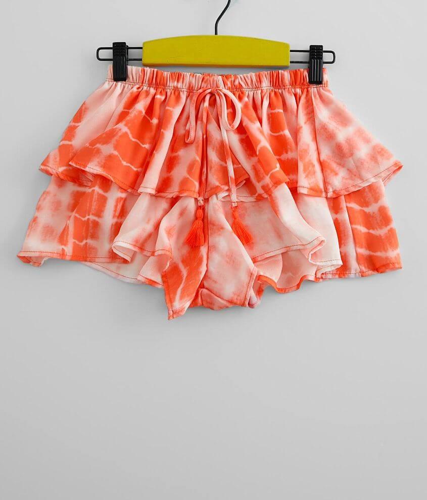 Girls - Vintage Havana Chiffon Tie Dye Short front view