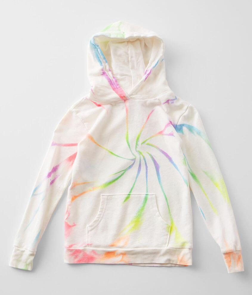 Little Girls - Play Six Neon Hooded Sweatshirt front view