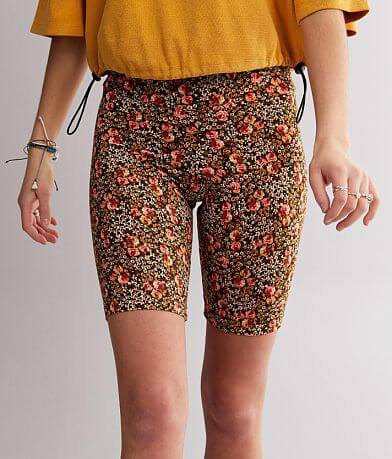 BKE core Brushed Knit Floral Biker Short