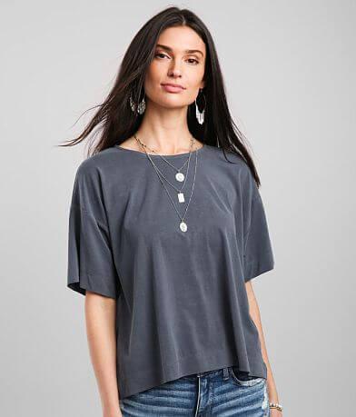 Buckle Black Modal Blend T-Shirt