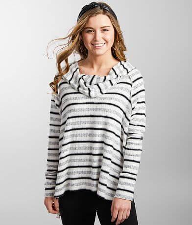 BKE Brushed Knit Marilyn Neck Pullover