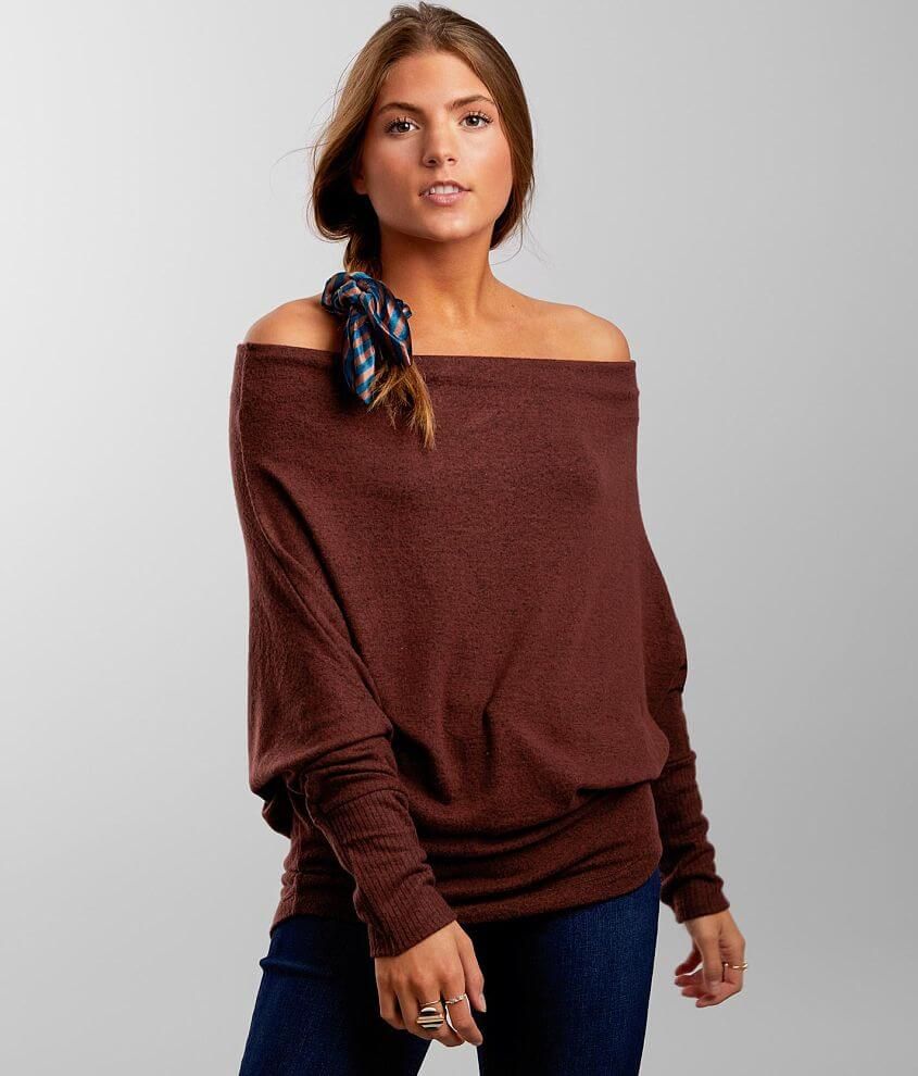 BKE Off The Shoulder Top front view