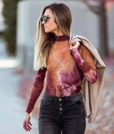 Willow & Root Tie Dye Mesh Top