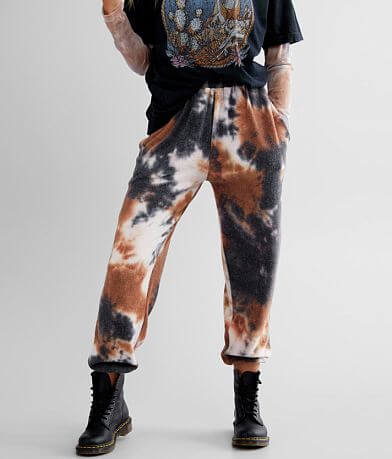 BKE Brushed Fleece Tie Dye Jogger