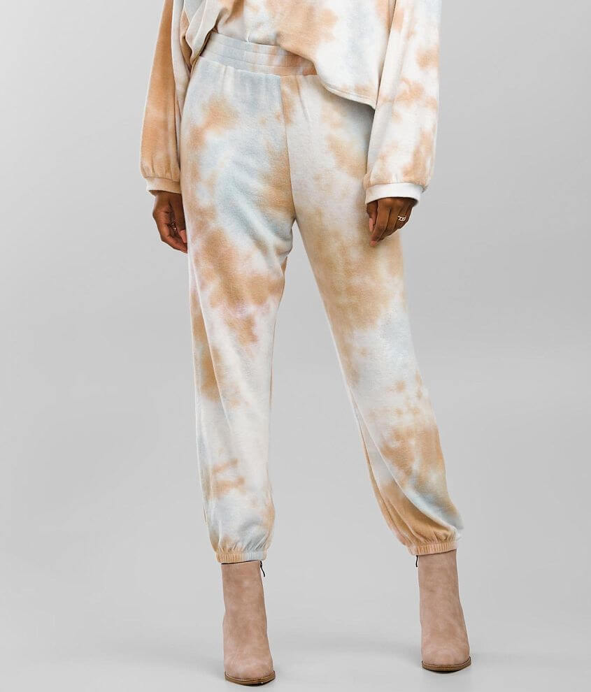 BKE Brushed Knit Tie Dye Jogger front view