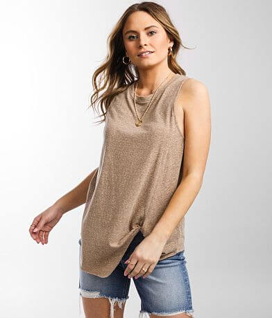 BKE Twisted Front Tank Top
