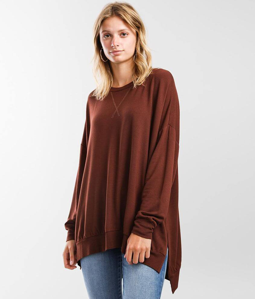 BKE Oversized Cozy Knit Pullover front view