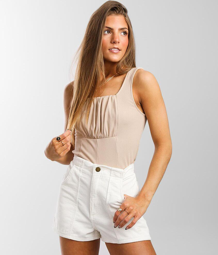Willow & Root Pleated Puff Tank Top front view