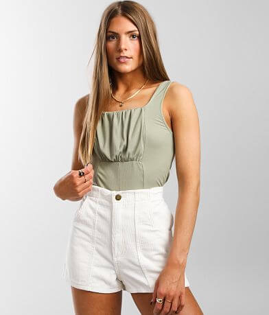 Willow & Root Pleated Puff Tank Top