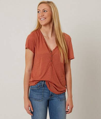 BKE core Slub Fabric Henley Top