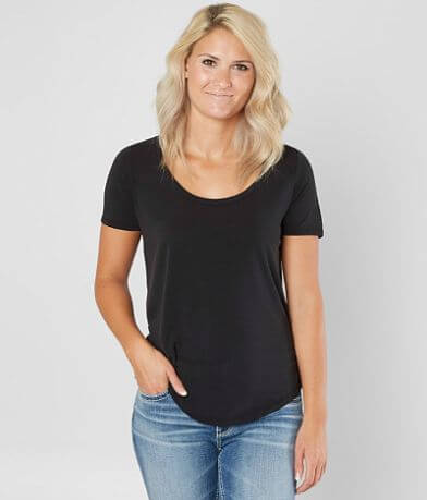 BKE core Solid Scoop Neck Top