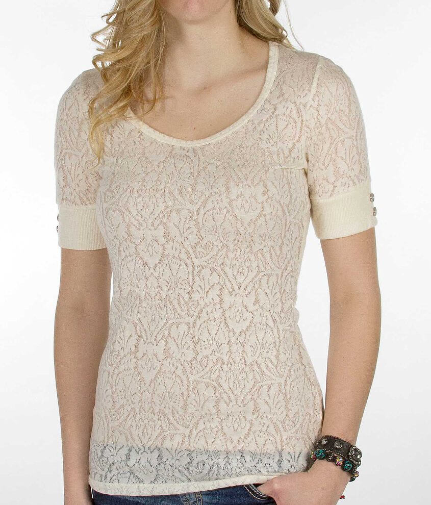 BKE Jacquard Top front view