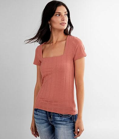 red by BKE Wide Ribbed Knit Top