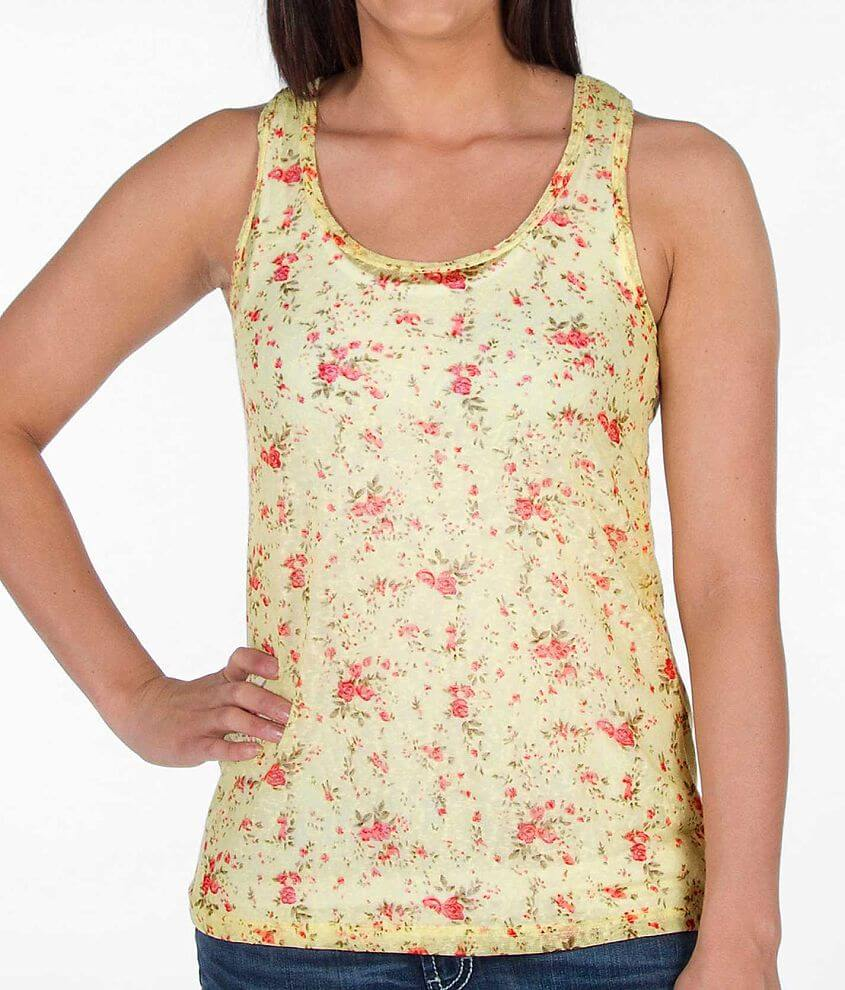 BKE Pointelle Tank Top front view
