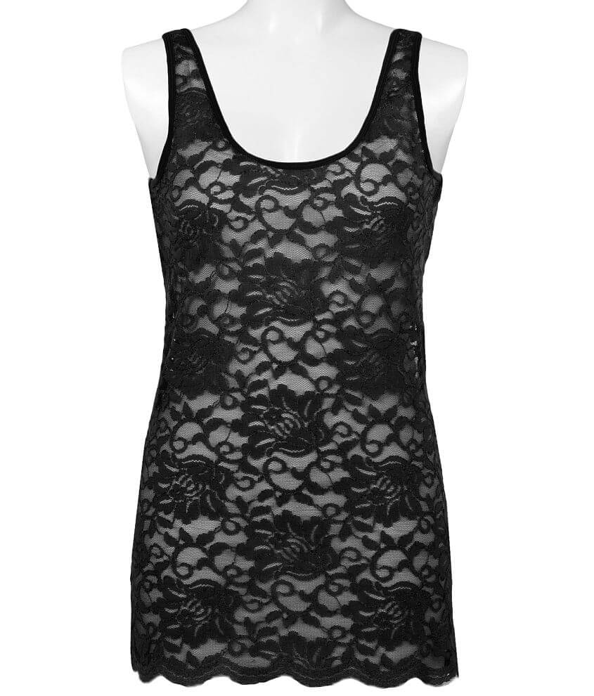 BKE Lace Tank Top front view