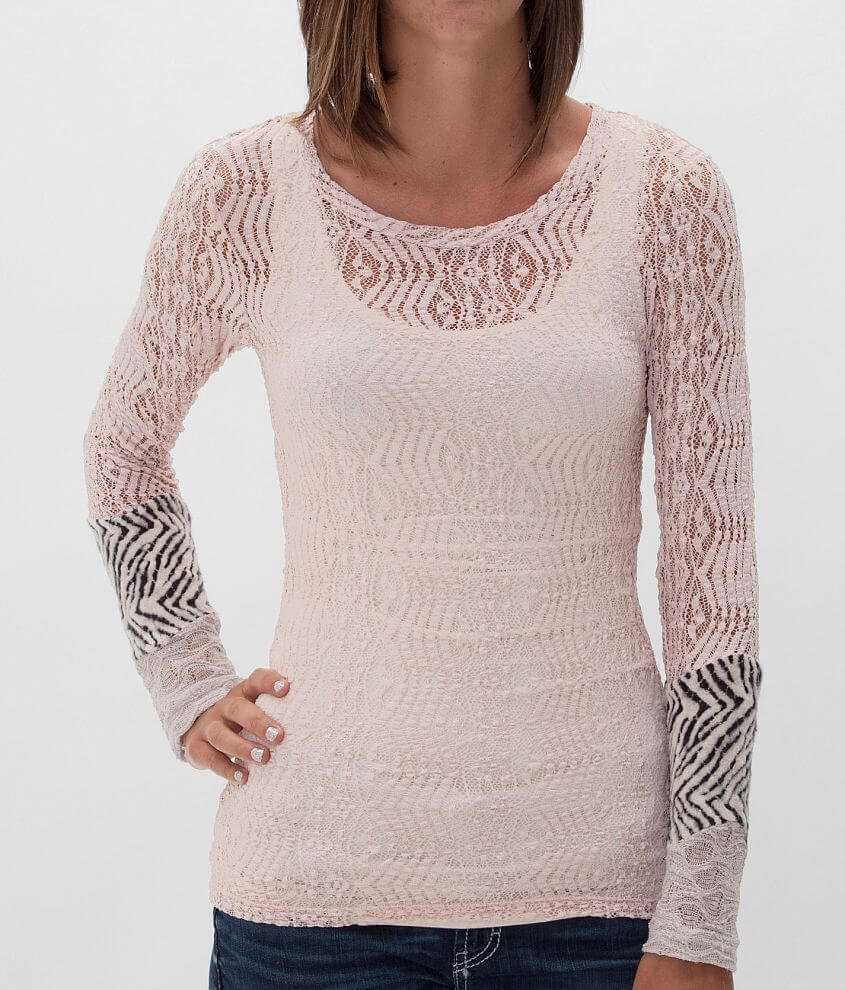 BKE Lace Top front view