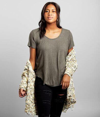 BKE Brushed Fleece Knit Top