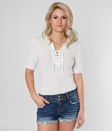 BKE Lace-Up Top