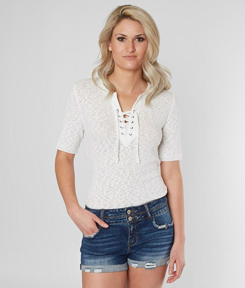 BKE Lace-Up Top front view