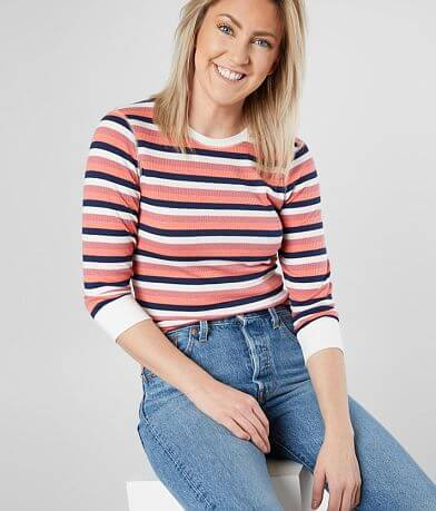 BKE Striped Rib Top