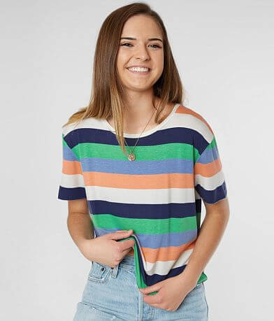 BKE Striped Knit Top