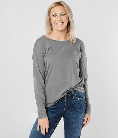 BKE Washed Cut-Out Top