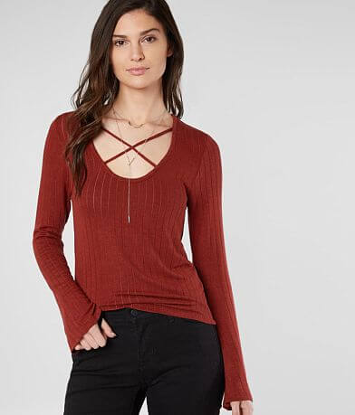 red by BKE Strappy Top