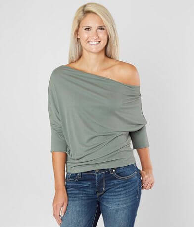 red by BKE Off The Shoulder Dolman Top