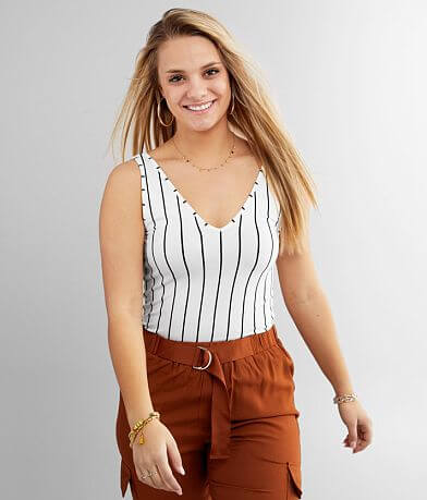 red by BKE Striped Tank Top