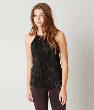 red by BKE Pleated Tank Top