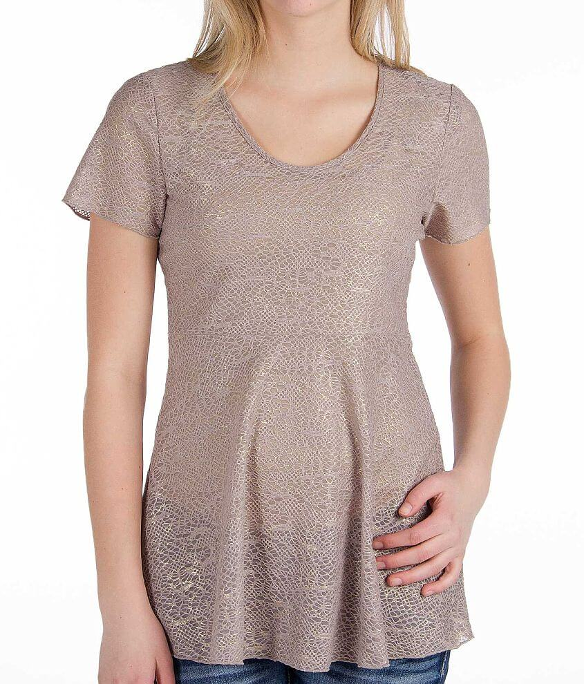 BKE Boutique Babydoll Top front view
