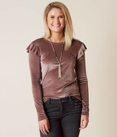 BKE Boutique Velvet Top