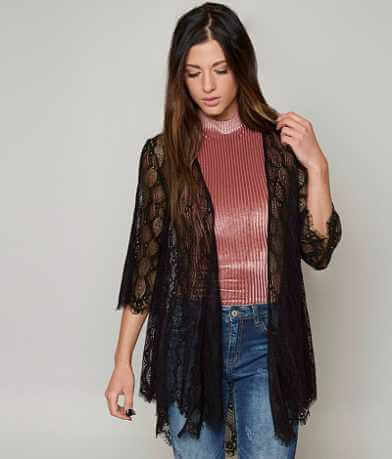 BKE Boutique Eyelash Lace Cardigan
