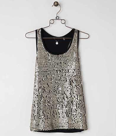 BKE Boutique Sequin Tank Top