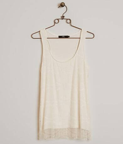 BKE Boutique Eyelash Lace Tank Top