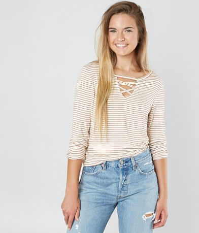 FITZ + EDDI Strappy Striped T-Shirt