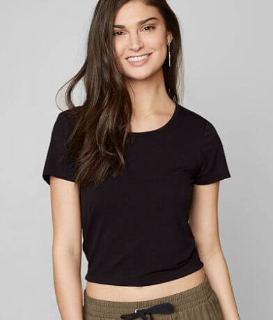 grehy Solid Cropped T-Shirt