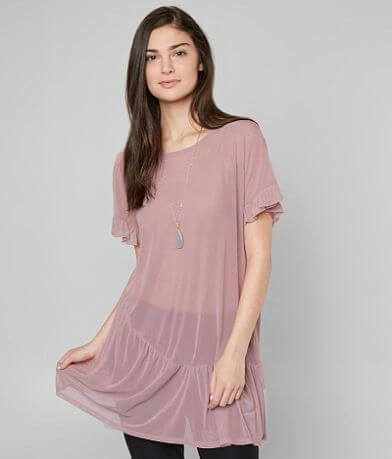 grehy Mesh Tunic Top