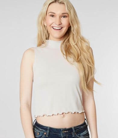 Gilded Intent Mock Neck Cropped Tank Top