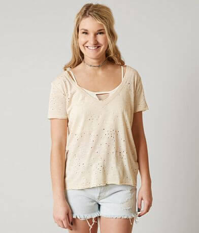 Gilded Intent Raw Edge Top