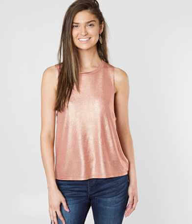 grehy Metallic Knit Tank Top