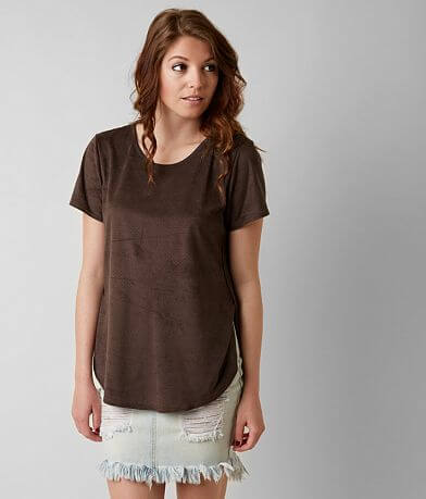 Gimmicks Faux Suede Top